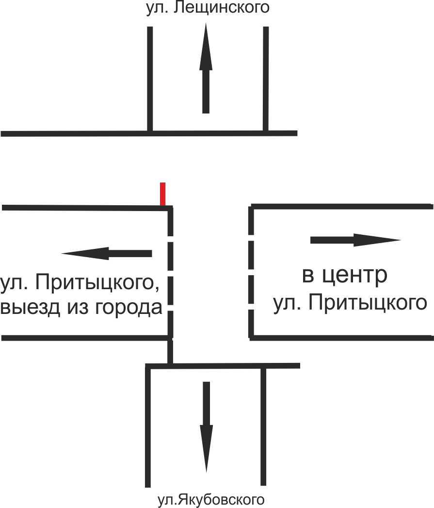 Схема расположения рекламного места reklama-on.by