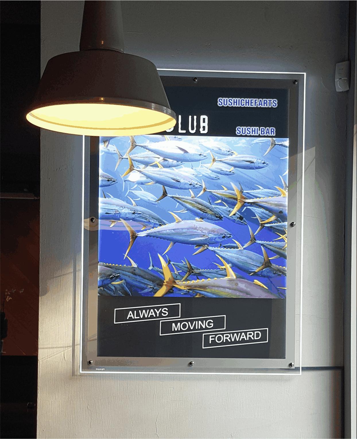 Ультратонкий световой короб со светодиодной подсветкой reklama-on.by