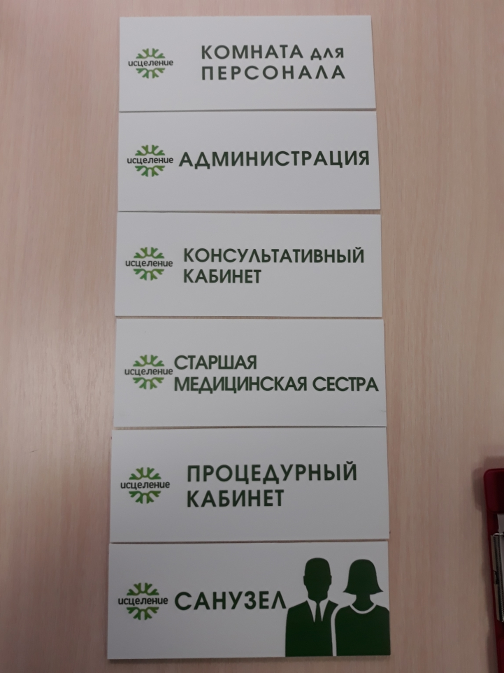 Таблички на ПВХ reklama-on.by