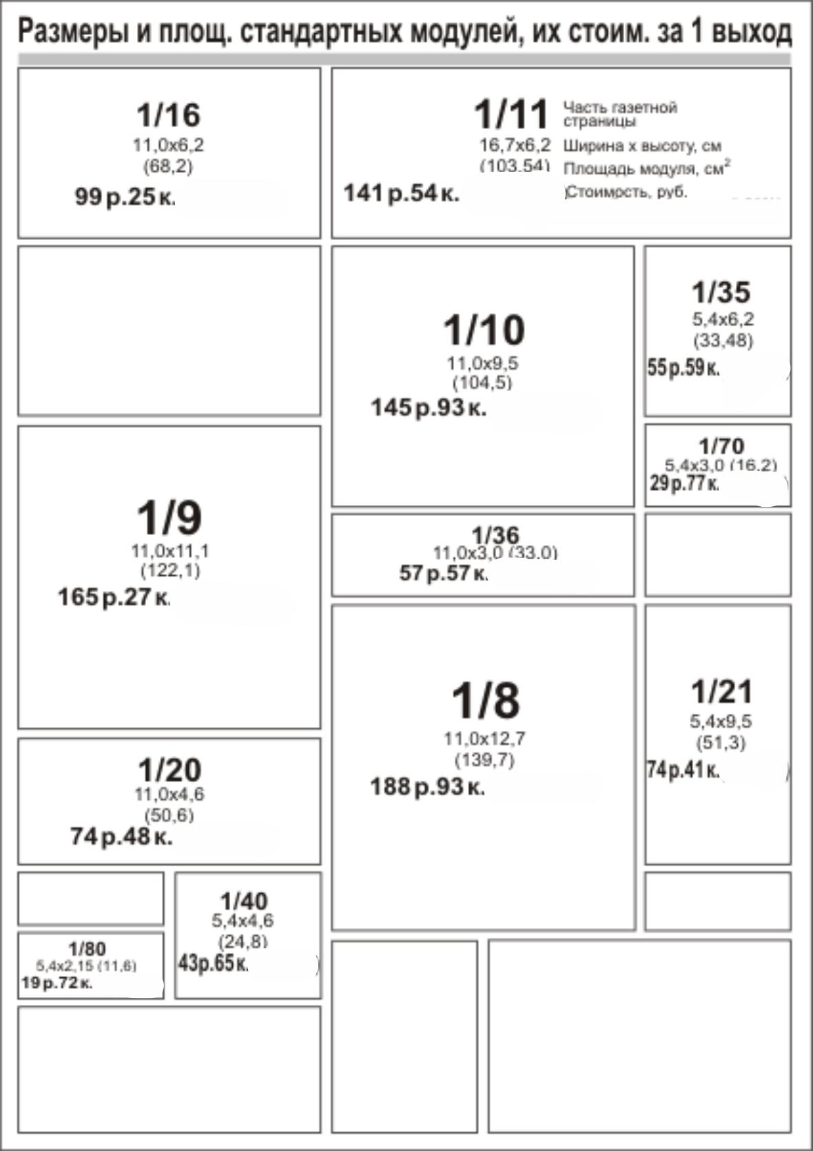 "Прайс на размещение рекламы в газете ""Рэкламны Дзяржынск"" reklama-on.by"